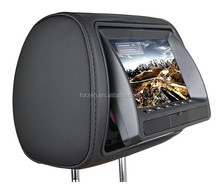 7 inch headrest with dvd for car accessories MP4 MP3 player