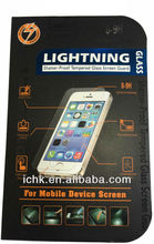 2015 New Product Lightning Tempered Glass Screen Protector