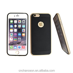 Black color metal frame tpu back cover cellphone case for iphone 6 CO-MIX-9014