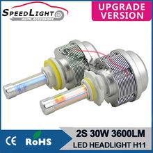 Speedlight Upgrade Version LED Light 12V Car 30W 3600LM 2S All In One H8/H9/H11 LED Car Light Bulbs