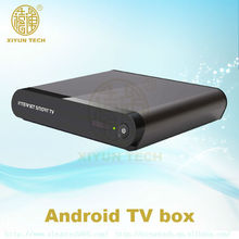 2014 release smart OTT hybrid box 2GB/8GB, live TV box IPTV VOD support XBMC,many cases