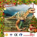 Chrismas decoración tamaño natural simulación Animatronic traje de dinosaurio