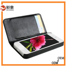 China supplier waterproof leather wallet case for htc droid dna