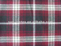 cotton flannel yarn dyed check mens shirt fabric