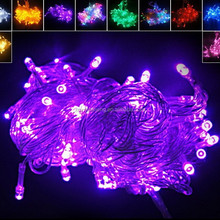 Eco-friendly transparent wire 8 fountion controllor 1140cm length 100 led CE and ROHS approval christmas colorful string light