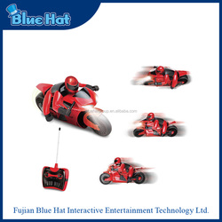Hot sale Bule Hat remote control toy mini motorcycle