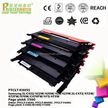 Color Laser Printer Toner FOR Samsung SL-C422/422W/420W/423/423W,SL-C472/472W/472FW/470W/C470FW/473/473W (PTCLT-K405S)