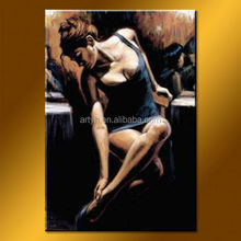 Hot Selling Modern Handmade Sexy Woman Romantic Canvas Art