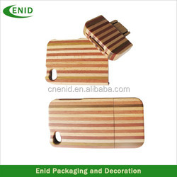 Latest design natural engraved wooden mobile phone cover