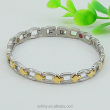 316L stainless steel bracelet with healthy element in fashion jewelry market