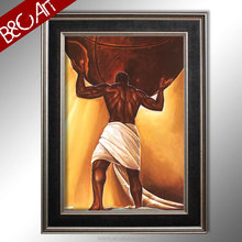 Strong figure oil painting wall moulding picture African man painting male nude oil painting