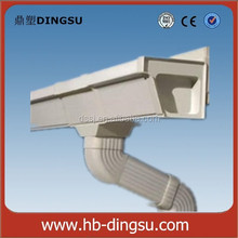 5.2 inch and 7 inch Square PVC Gutter Roof Drain Gutters