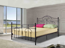 High class classic black home furniture iron bed