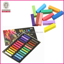 Non-toxic 24 colors hair color temporary hair chalk pen in hair dye