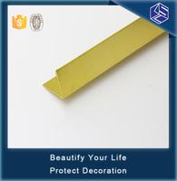 Smooth surface round gold edge finishing aluminum tile trim