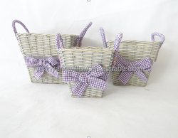 Garden wicker basket