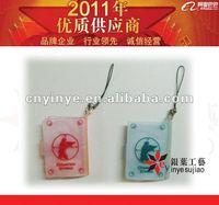 ,mini picture frame mobile strap PVC mini digital photo album key chain
