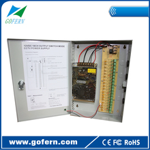 AC 110/220V DC12V 15A CCTV camera switching power supply box 180W Multiple output 18 channel