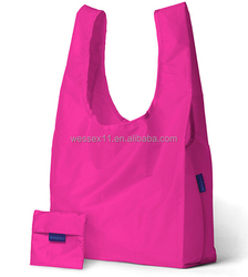 Polyester Rose Folding Shopping Bag Foldable And Reusable Shopping Bags
