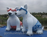 2015 Hot sale Cool giant inflatable dog for advertising
