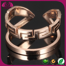 2015 Unique Fashion Rings Jewelry, Rose Gold Stainless Steel Ring For Women