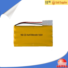 High quality aa 9.6v 700mah nicd battery pack for lights