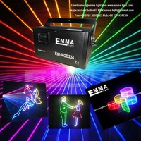 Pro light and sound RGB Moving head laser DMX ILDA RGB Animation laser projector
