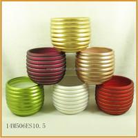 Ceramic custom styles bright color flower pot