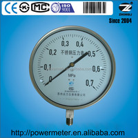 250mm 10 inch large bottom connection all stainless steel pressure gauge for scale 0.7 Mpa