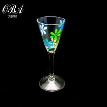 Hand-made Elegant long stem Cocktail glass goblet & China-made high quality coloered Martini glass goblet