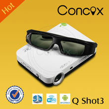 Smart mini pocket 3d wifi projector android for smartphone !!! Concox Q Shot3 100Hz with Android 4.2 O.S