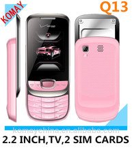KOMAY Low cost slide Q13 Mobile Phone with TV
