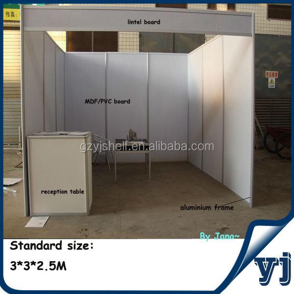 Simple Exhibition Stand By Me : Simple mdf profilé en aluminium stand de foire commerciale