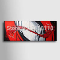 100% Hand-painted abstract decor modern art Painting on canvas hotel decoration - 4pcs wall paintings