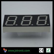 0.80 inch 53.9x25.8mm inch three digit 7 segment display 3 digit numeric display