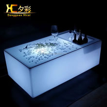 new fashion waterproof glowing led cube table with ice bucket led cube for baes/cafe/party