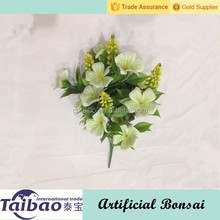 New arrival Alibaba gold supplier supplies light green artificial bush flowers