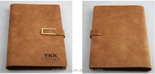 latest design a4 imitated leather executive planner journal notebook refillable