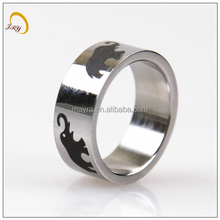 titanium pretty cute elephant fashion men ring