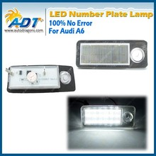 Super canbus LED License Plate Lights For Audi A6 C5/4B for Avant for Wagon 1998-2005