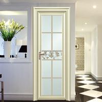 Aluminium Wired Decorative Glass Swing Door