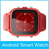 2015 latest genuine leather android watch phone stainless steel bluetooth smart watch mobile