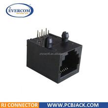 6P6C RJ11 RJ12 RJ14 RJ25 Side Entry PCB Mount Jack For telephone socket