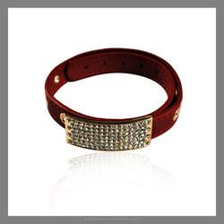 2015 retractable colorful leather bracelets for women