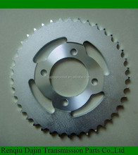 1045# steel high quality motorcycle sprocket for Honda of material c45 carbon steel sprocket from bicycle parts factory