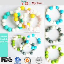 100% Food Grade Beads/Australia Standard Teething Basketball Silicone Bracelet