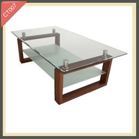oriental horse dolphins glass coffee table