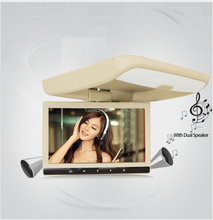 Flip down 10inch Roof mount car radio DVD/DIVX/MPEG4/IR/FM/GAME/TV/USB/SD