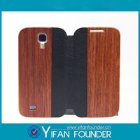 Wood Grain Pattern PU Leather Protective Phone Cover Case For Samsung Galaxy S4 I9500 Back Cover Case