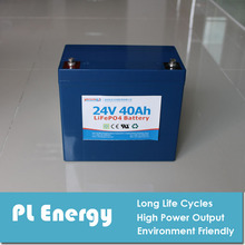 lithium ion 24V 40Ah rechargeable battery pack